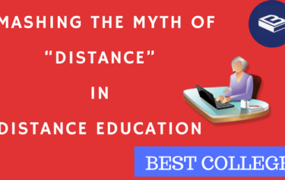 "Smashing the myth of ""Distance"" in Distance Education"