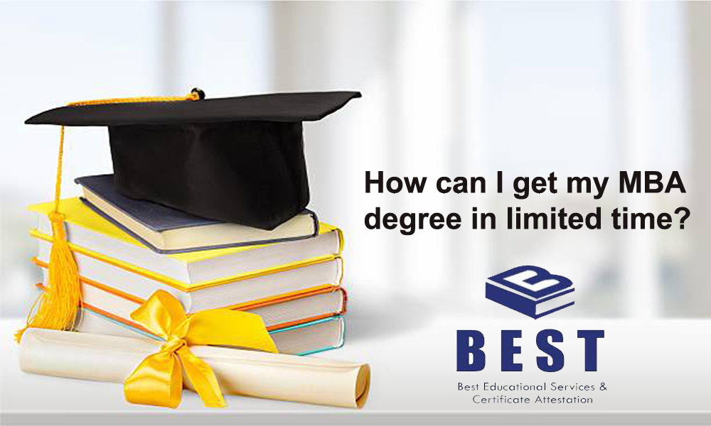 How can I get my MBA degree in limited time?
